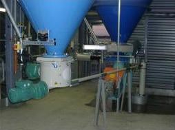 Ensemble d'extraction dosage de chaux éteinte sous silo
