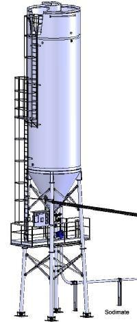 Exemple d'implantation d'un silo sous Solidworks