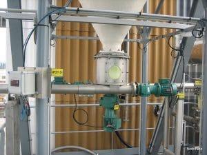 Discharge and metering unit of dehydrate for Eramet