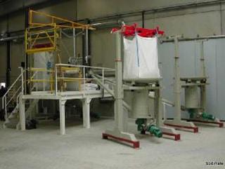 Installation de vide Big Bag de carbonate de calcium
