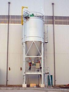 Sodium bicarbonate discharge and metering unit for Befesa Zinc