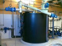 Préparation de lait de chaux pour conditionnement avant filtre à plateaux