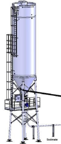 Exemple d'implantation d'un silo sous Solidworks