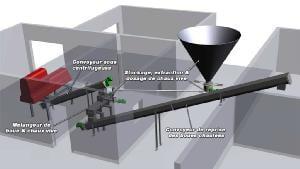Vue 3D d'une installation complète de chaulage
