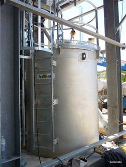 Cuve de mise en solution de carbonate de sodium