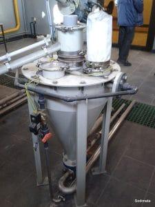 Trémie pompe à vide charbon actif