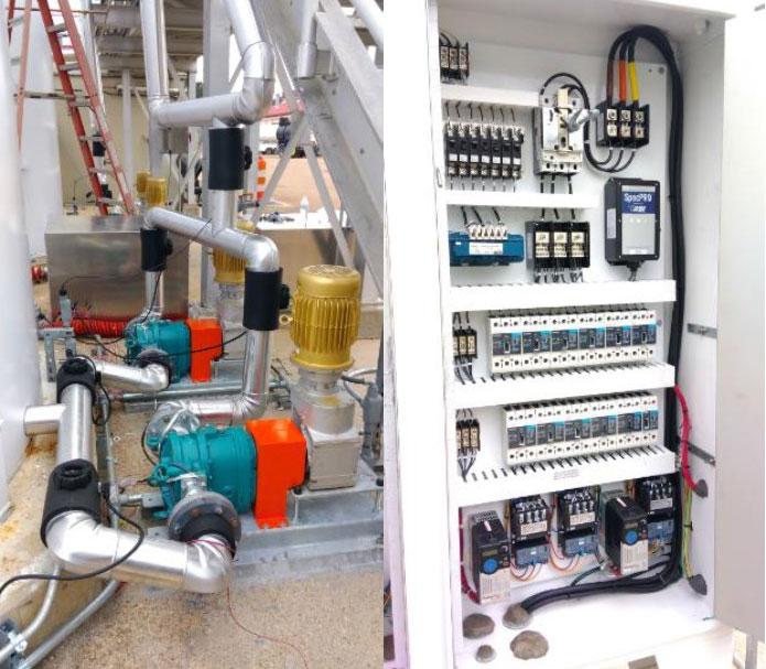 Cornerstone pumps and control panel