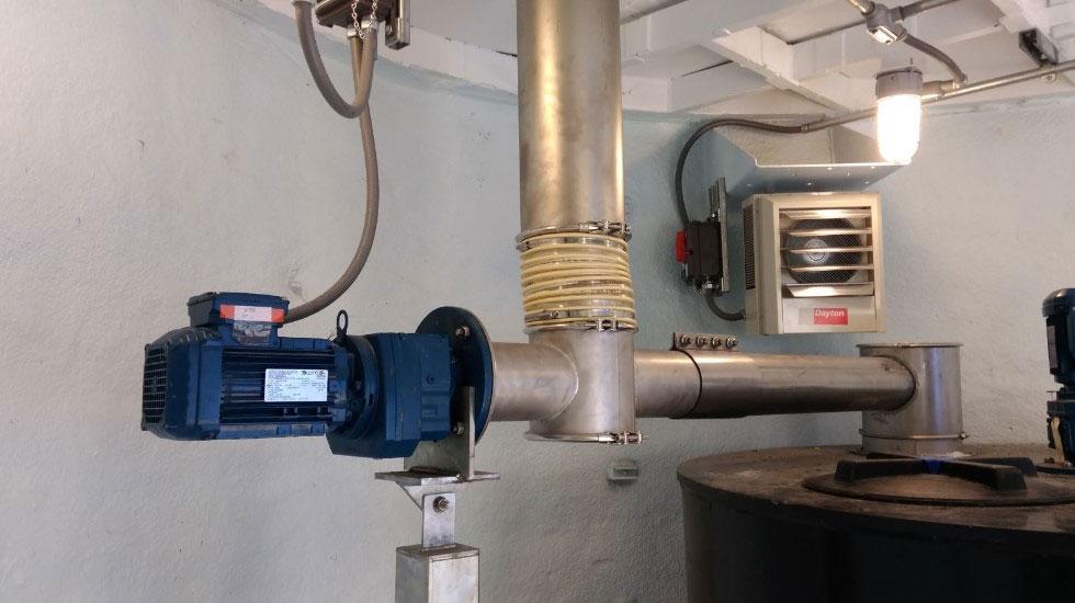 Injector on Soda ash tank