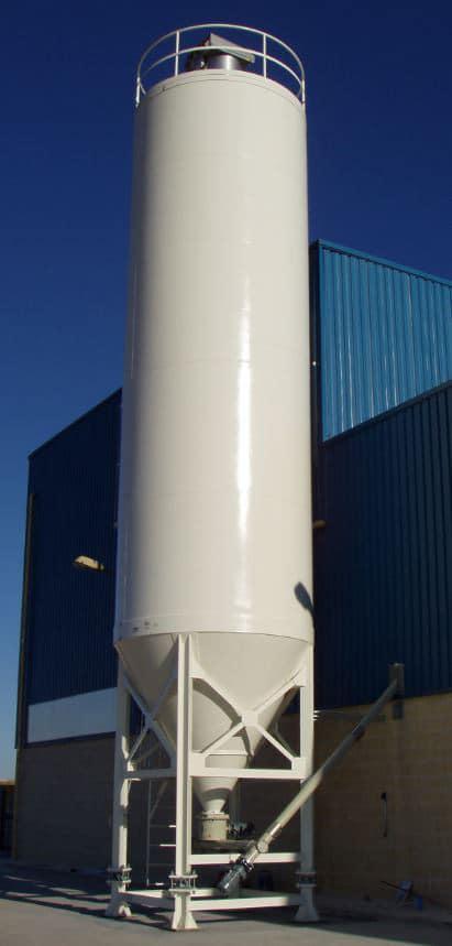 Bulk storage silos