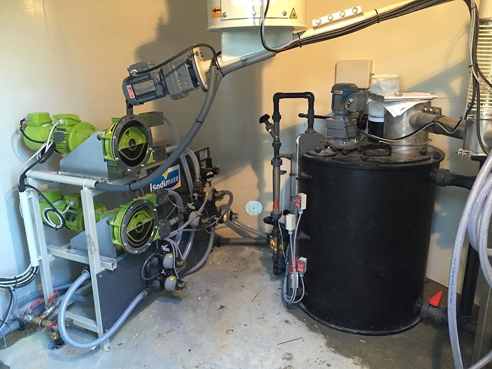 Bac de mélange & ski de pompes pour sulfate d'alumine