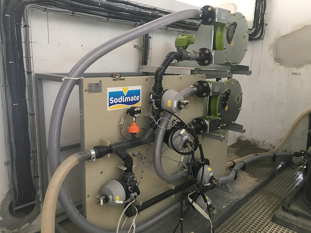 Complete Pump Skid System with Instrumentation for Lime Milk Solution