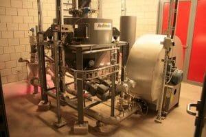 Dosage de charbon actif par trémie tampon pesée