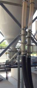 Double lignes de transfert pneumatique verticale