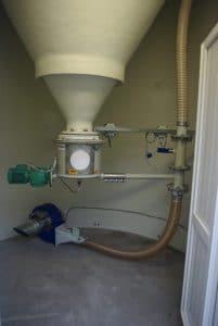 Transfert pneumatique sous silo