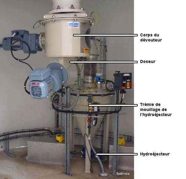 exemple d'installation sous silo