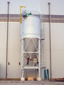 Activated Carbon Silo fitted with Bin activator