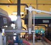 Lime injector screw into sludge pump