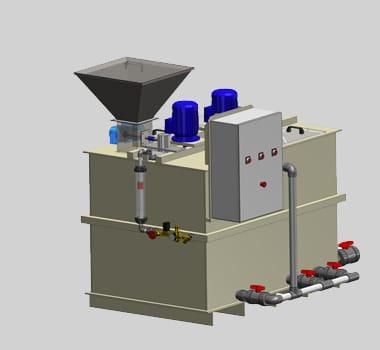 Centrale de préparation de polymères en poudre