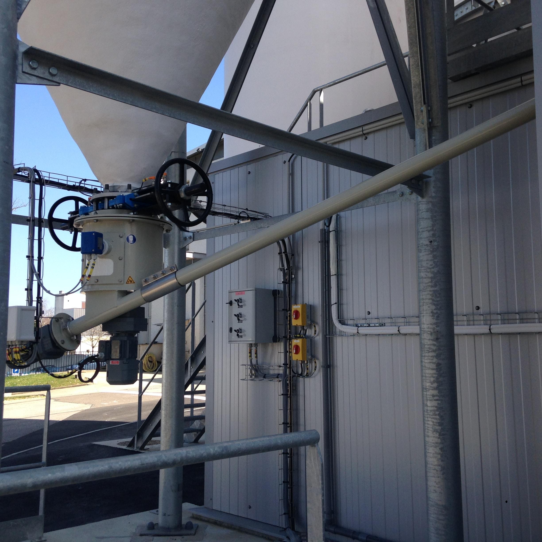 Hydrated lime silo unlaoder Cw feeder